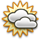 mostly cloudy-dry
